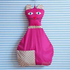 Bartex Design Závesný vreckár Mačička - ružový