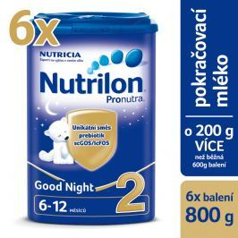 Nutrilon dojčenské mlieko 2 Pronutra Good Night 6x 800g
