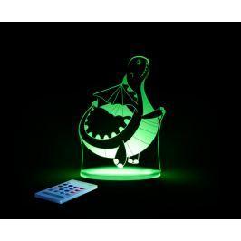 Aloka Nočné svetielko Dráčik + ovládač pre voľbu farieb
