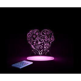 Aloka Nočné svetielko Srdce + ovládač pre voľbu farieb
