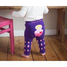 Blade & Rose Dievčenské legínky s bábikami - fialové
