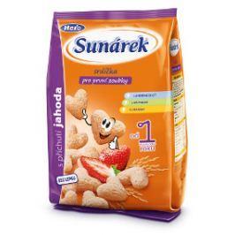 Sunárek detský snack jahodové srdiečka 2x50g