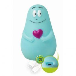 Pabobo svietiaci kamarát Lumilove Barbapapa micro USB blue