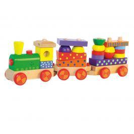 WOODY Skladací vlak s potlačou, svetlom a zvukom - dva vagóny