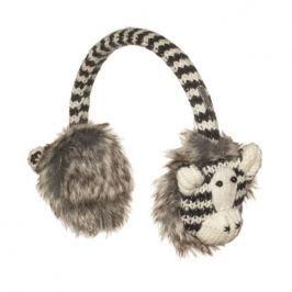 Knitwits Detské klapky na uši Zebra - farebné