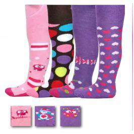 PIDILIDI Dievčenské set 4ks froté dievčenských pančúch - farebný