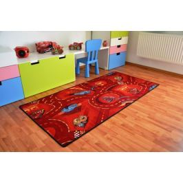 Vopi Detský koberec Cars červený 95x200 cm