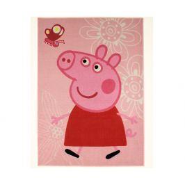 Carpet your life Koberec Peppa Pig s motýlikom 95x133 cm