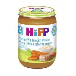 HiPP BIO Mrkva s ryžou a teľacím mäsom 6x190g