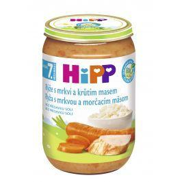 HiPP BIO Ryža s karotkou a morčacím mäsom 6x220g