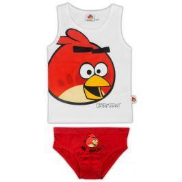 E plus M Chlapčenský set tielka a slipov Angry Birds - bielo-červený