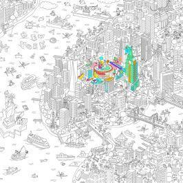 OMY DESIGN & PLAY Veľké maľovanky XXL New York