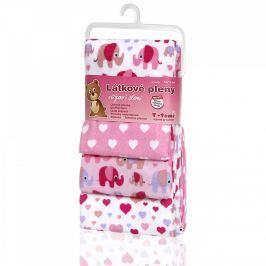 T-tomi Látkové plienky, súprava 4 kusov, ružové slony