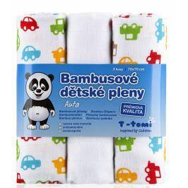 T-tomi Bambusové plienky, súprava 3 kusov, autá