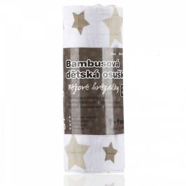 T-tomi Bambusová osuška, 1 kus, béžové hviezdičky