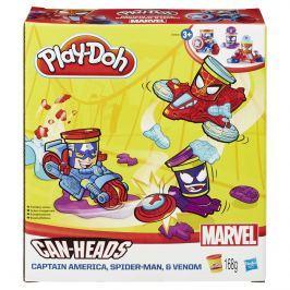Play-Doh Tégliky v tvare hrdinov Marvel s vozidlami