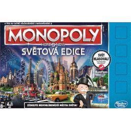 Hasbro Monopoly Tu a teraz Svetová edícia CZ