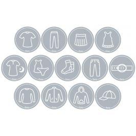 Mamiee Samolepky pre dievčatá svetlo sivé- súprava 13 kusov