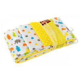 T-tomi Látkové plienky, súprava 4 kusov, žlté žirafy