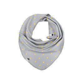 Lamama Detská šatka / nákrčník - svetlo sivý s trojuholníčky