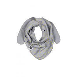 Lamama Detský obojstranný šatka s trojuholníčky - šedý