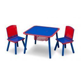 Delta Detský stôl so stoličkami - modro-červený
