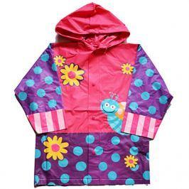 PIDILIDI Dievčenské pláštenka s motýlikom a kvetmi - fialovo-ružová