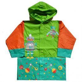 PIDILIDI Chlapčenská pláštenka s robotom - oranžovo-zelená
