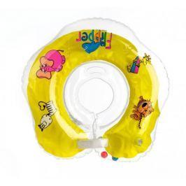 Teddies Plávací nákrčník Flipper od 0 mesiacov, žltý