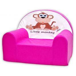Baby Nellys Detské kresielko Opička Nellys ružová