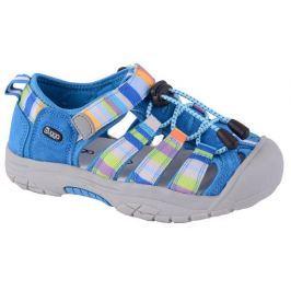 Bugga Chlapčenské pruhované sandále - modré