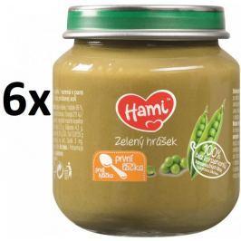 Hami Príkrm zelený hrášok, 6x125g