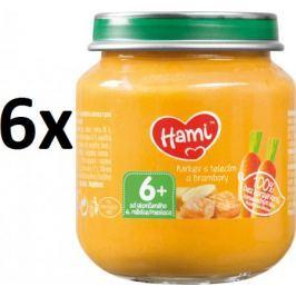Hami Príkrm mrkva, zemiaky, teľacie, 6x125g