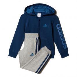 adidas Chlapčenská tepláková súprava - modro-šedá