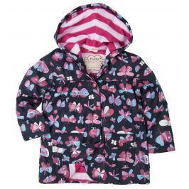Hatley Dievčenské nepremokavá bunda Butterflies - farebná