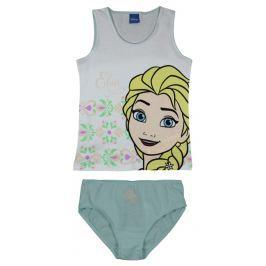 E plus M Dievčenská súprava tielka a nohavičiek Frozen - bielo-zelený