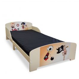 Homestyle4U Detská drevená posteľ Pirát