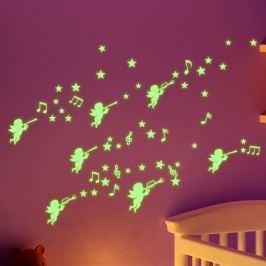 Fanastick Nástenná svietiaca samolepka Anjeli