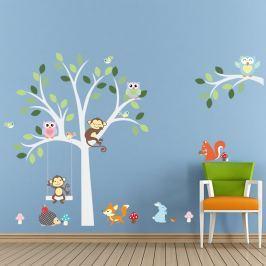 Fanastick Nástenná samolepka Strom a zvieratká