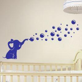Fanastick Nástenná samolepka Slon vyfukujúci bubliny
