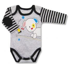 Lafel Chlapčenské body Puppy - šedo-modré