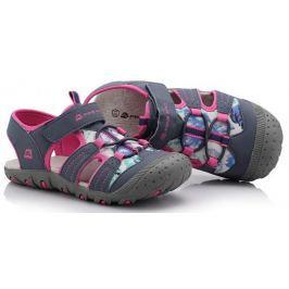 ALPINE PRO Dievčenské sandále Pankaj - ružovo-šedé