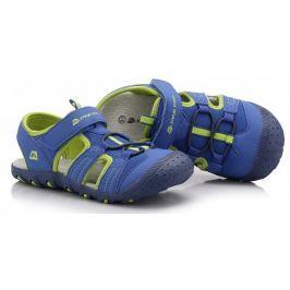 ALPINE PRO Chlapčenské sandále Pankaj - zeleno-modré
