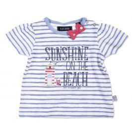 Blue Seven Dievčenské prúžkované tričko Sunshine - bielo-modré