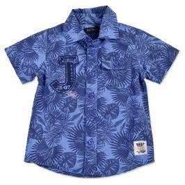 Blue Seven Chlapčenská vzorovaná košeľa - modrá