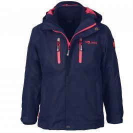 Trollkids Detská bunda 3v1 Myrdal - modro-ružová