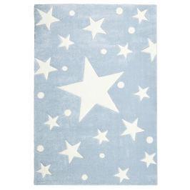 Happy Rugs Detský koberec modrý s hviezdami, 80x150 cm