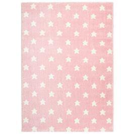 Happy Rugs Detský koberec ružový s hviezdičkami, 80x150 cm
