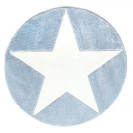 Happy Rugs Detský kruhový koberec s hviezdou - modrý, priemer 133 cm