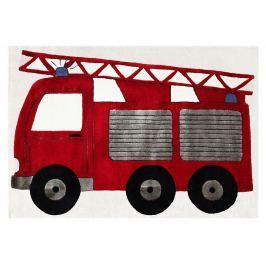 Happy Rugs Detský koberec hasiči, 120x180 cm